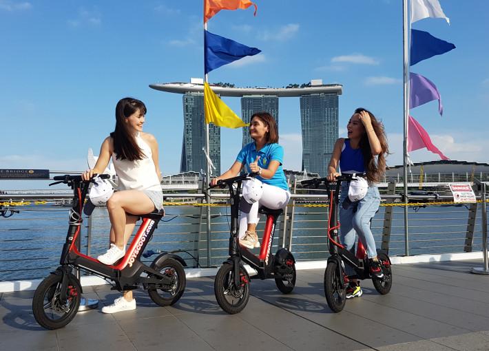 Экскурсия на электросамокатах по Сингапуру